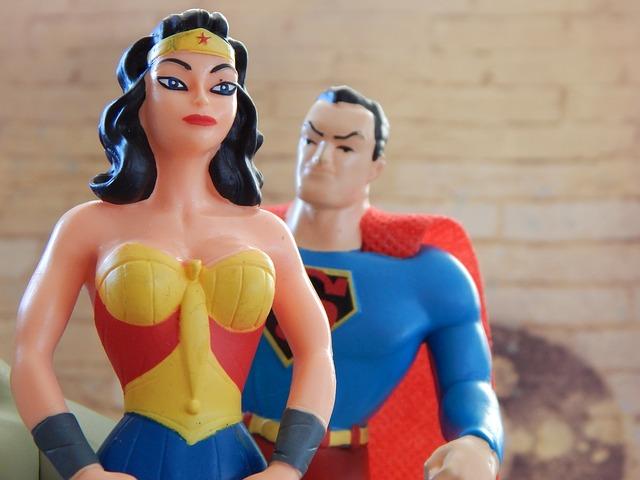 žena se supermanem