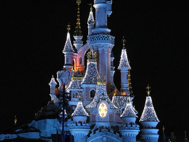 hrad v Disneylandu