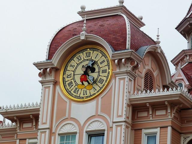 hodiny v Disneylandu