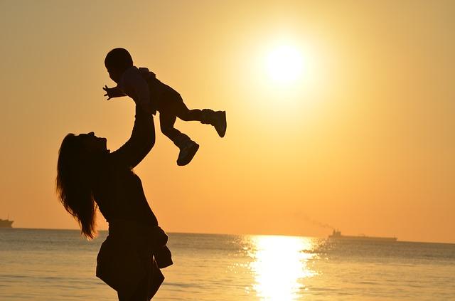 šťastná matka