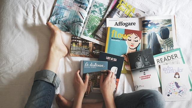 čtení časopisů