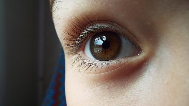 hnědý oči